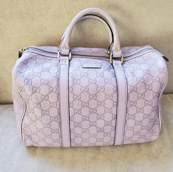 Gucci Handbags - Lavender GUCCI Boston Bag